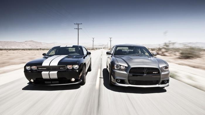 cars, Dodge, gray, race, black