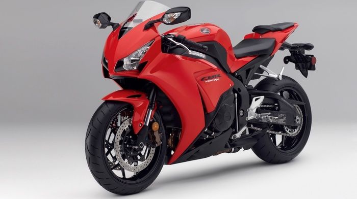 motorcycles, Honda, red