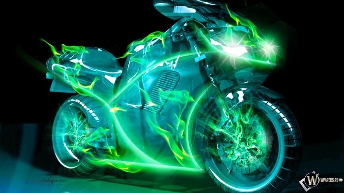 3D, moto, motorcycles