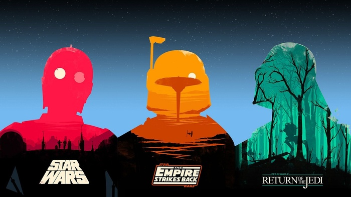 Star Wars Episode VI, The Return of the Jedi, Star Wars, movies, star wars episode v, the empire strikes back, Olly Moss