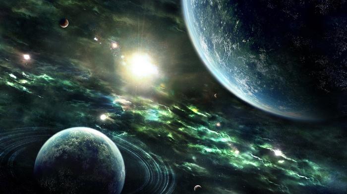 planets, nebula, space