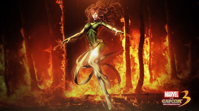 Jean Grey, x, men, Marvel vs. Capcom 3, phoenix, superheroines