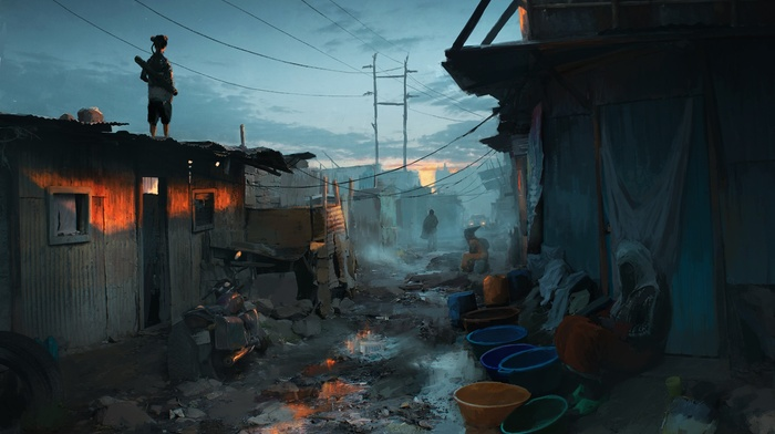 futuristic, artwork, concept art, urban, fantasy art