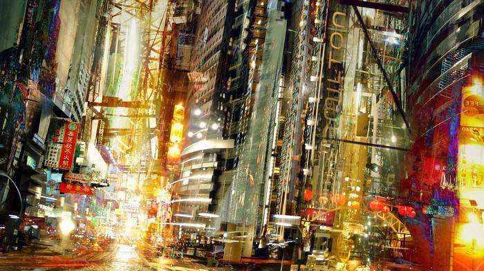Daniel Dociu, science fiction, concept art, lights, cityscape, artwork, building