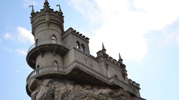 дворец, ЮБК, ялта, Ласточкино гнездо, небо, красивые, крым, архитектура