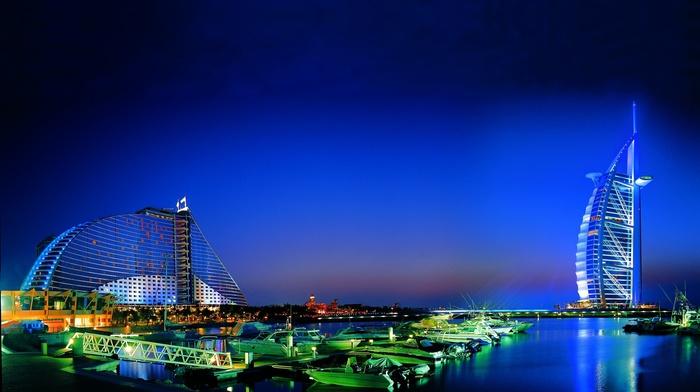 Dubai, city, cities, sea, evening