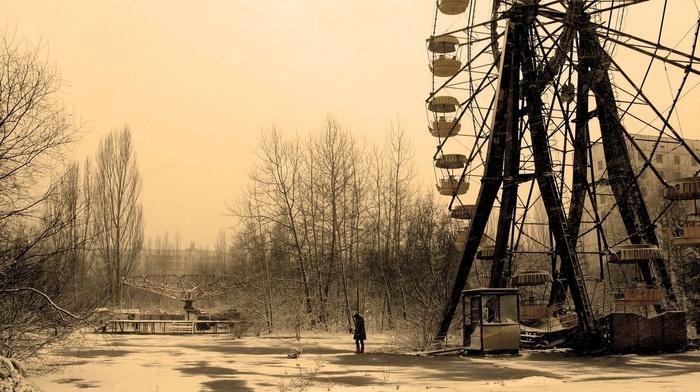 abandoned, sepia, urbex, alone, Pripyat, urban exploration