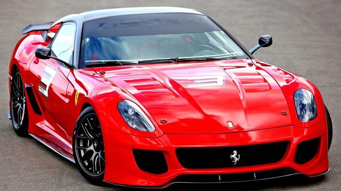 красный, ferrari, Феррари, суперкар, автомобили, спорткар