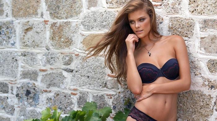 fashion model, light brown, girls, Nina Agdal