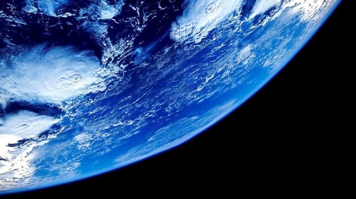 космос, красиво, ураган, Земля, облака, планета, фото, океан, циклон