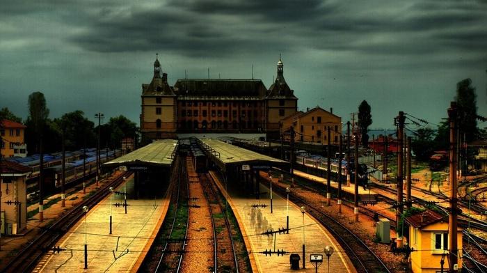 архитектура, Турция, железнодорожная станция, железная дорога, Стамбул