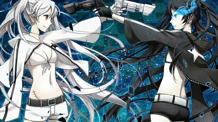 anime girls, Strength Black Rock Shooter, White Rock Shooter, anime, Black Rock Shooter