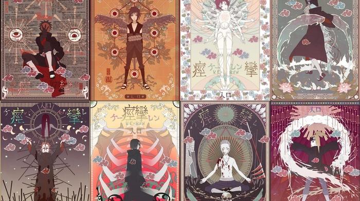 Sasori, cards, Uchiha Itachi, anime, Tobi, Deidara, manga, Hoshigaki Kisame, Hidan, Naruto Shippuuden, Pein, Akatsuki, Uchiha Sasuke