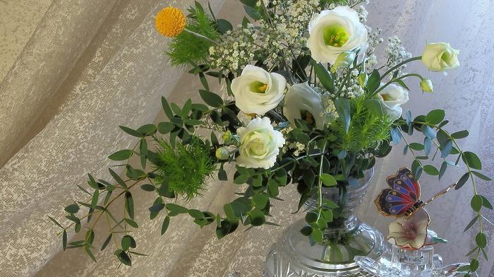 beauty, flowers, tea, cup, still life, vase