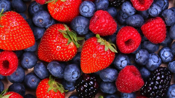 ежевика, клубника, вкусно, blueberries, berries, Малина, raspberries, черника, ягоды, blackberries, strawberries