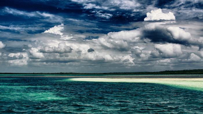 tropics, ocean, horizon, nature, sky, coast, beautiful, clouds
