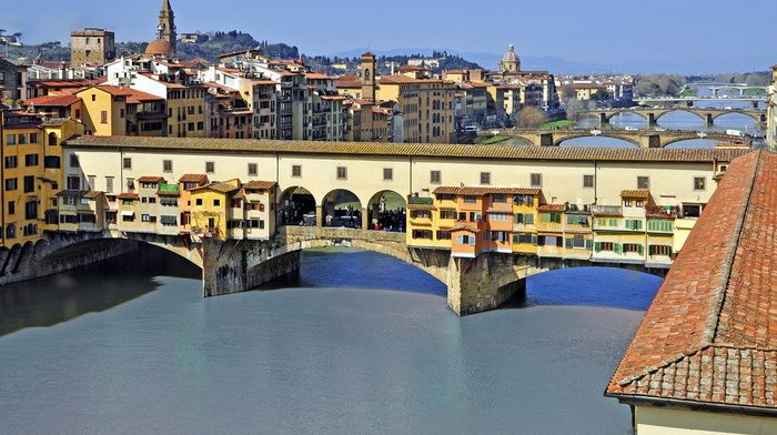 beauty, cities, Italy, bridge, river