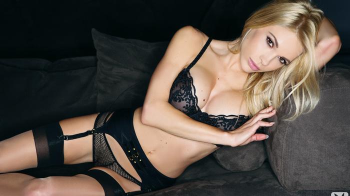 blonde, lying down, Playboy, posing, girls, statuette, sexy, sight, fashion model, linen