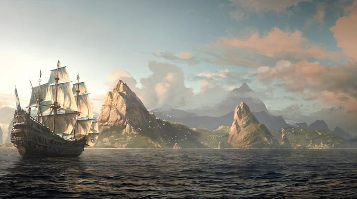 art, island, sailfish, nature, stunner, city, painting, mountain, beautiful