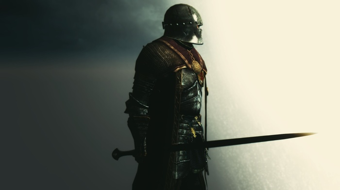 рыцари, воин, меч, цифровое искусство