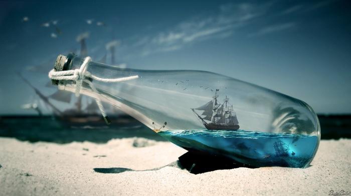 макро, вода, пляж, фото манипуляции, глубина резкости, песок, корабль