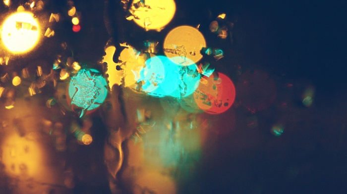 bokeh, water on glass