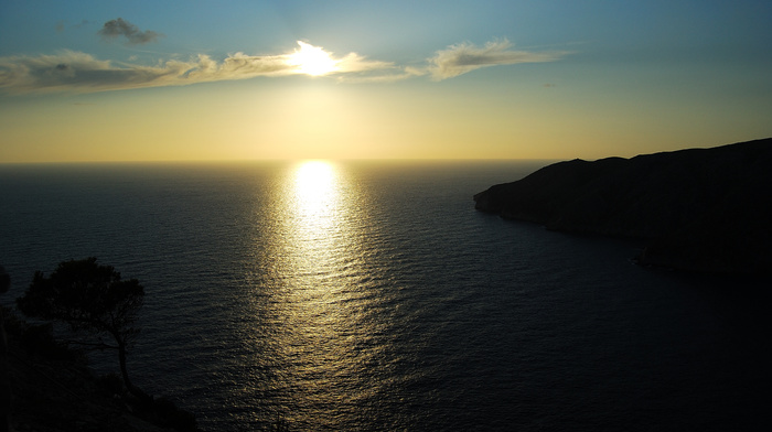 nature, ocean, fly, beauty, sunset