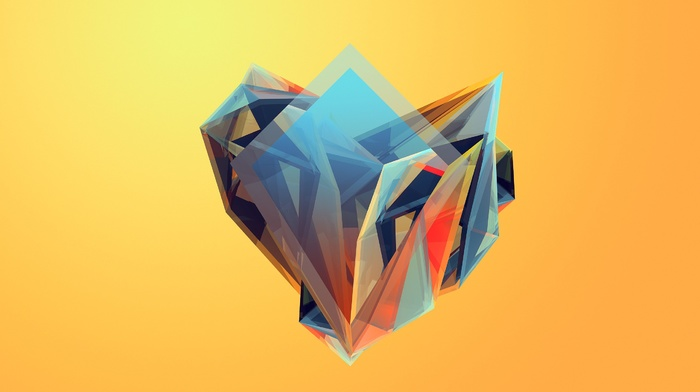 Justin Maller, artwork, colorful, facets