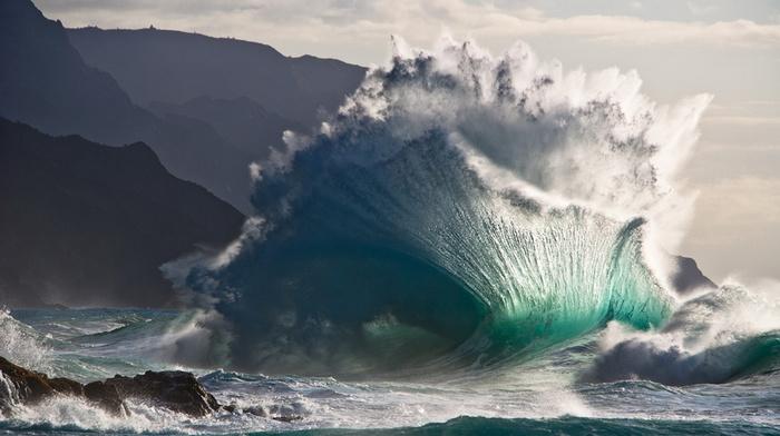wave, element, power, ocean, stunner, beauty