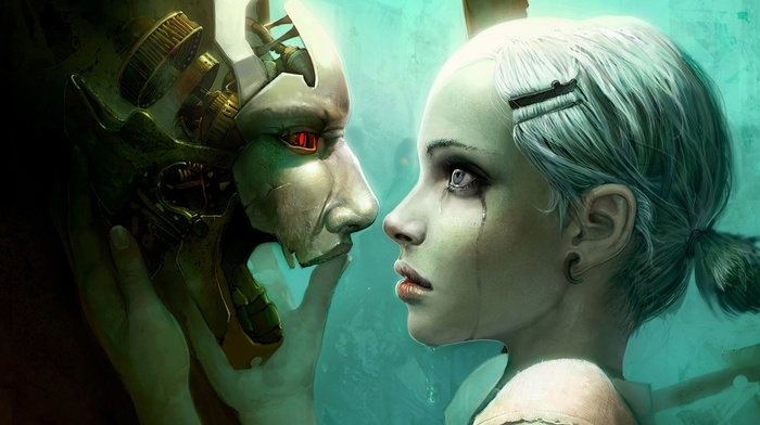 robot, girl, futuristic