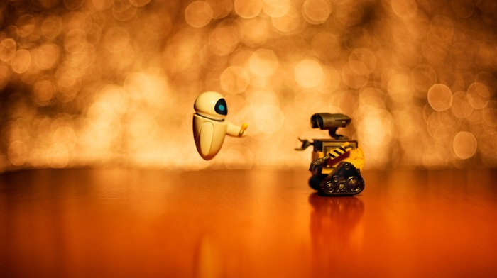 bokeh, pixar animation studios, walle, movies