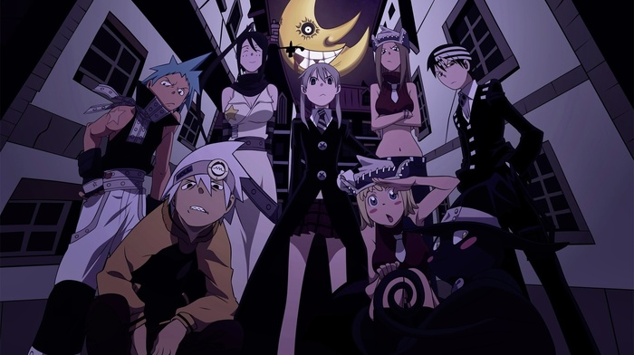 Soul Eater, Death The Kid, anime, Maka Albarn, Elizabeth Thompson, Blair, BlackStar, Soul Evans, Tsubaki Nakatsukasa, Patricia Thompson