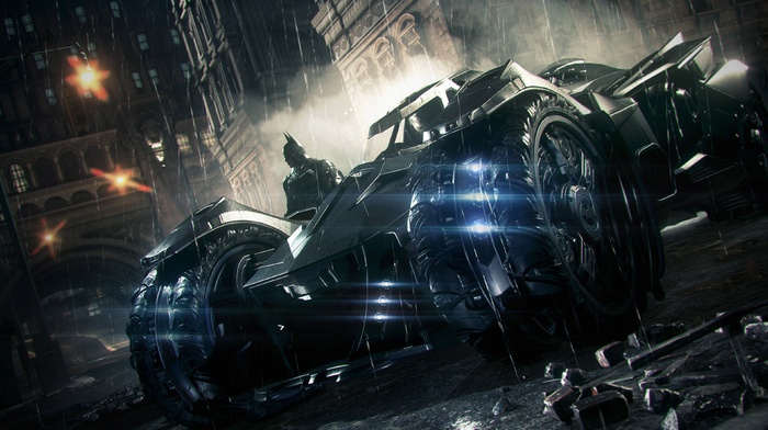 Gotham City, Rocksteady Studios, Batman, batmobile, Batman Arkham Knight, video games
