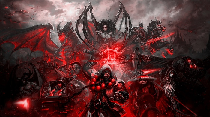 Sylvanas Windrunner, Illidan, Garrosh Hellscream, Starcraft II, Chen Stormstout, Deathwing, lich king, Thrall, King Varian Wrynn, Sarah Kerrigan, World of Warcraft, Blizzard Entertainment