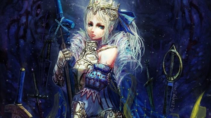броня, сабля, меч