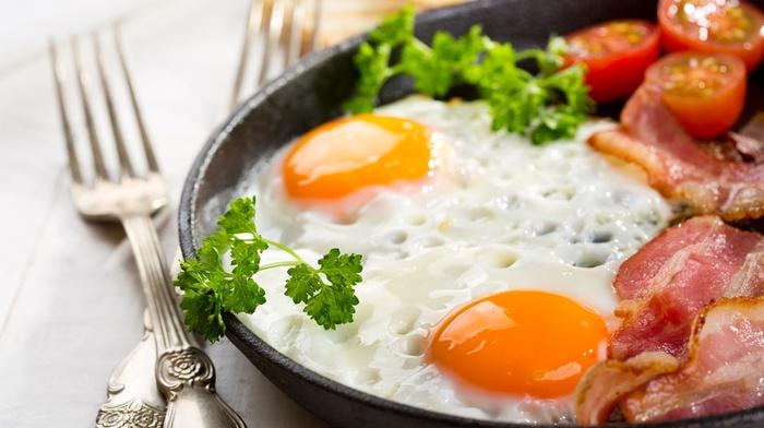 яйцо, бекон, вкусно, Завтрак, Яичница
