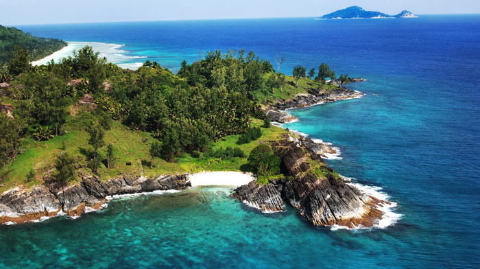 rocks, beautiful, stunner, ocean, tropics, resort, nature, mountain