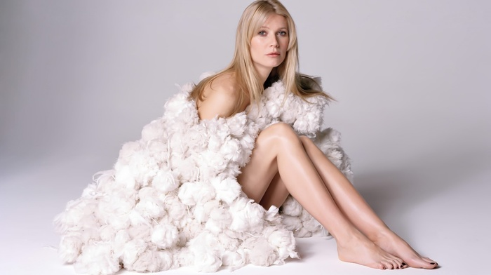 blonde, girl, bare shoulders, actress, Gwyneth Paltrow