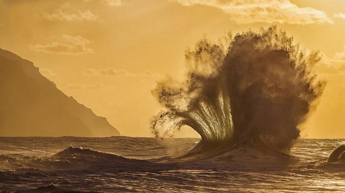 rocks, nature, wave, USA, ocean, splash, beauty