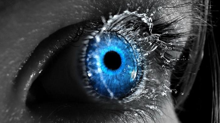голубые глаза, синий