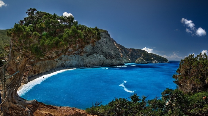 rocks, sea, mountain, beach, nature, resort, stunner