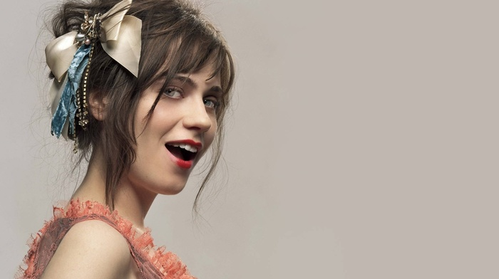 brunette, Zooey Deschanel, actress, face, girl