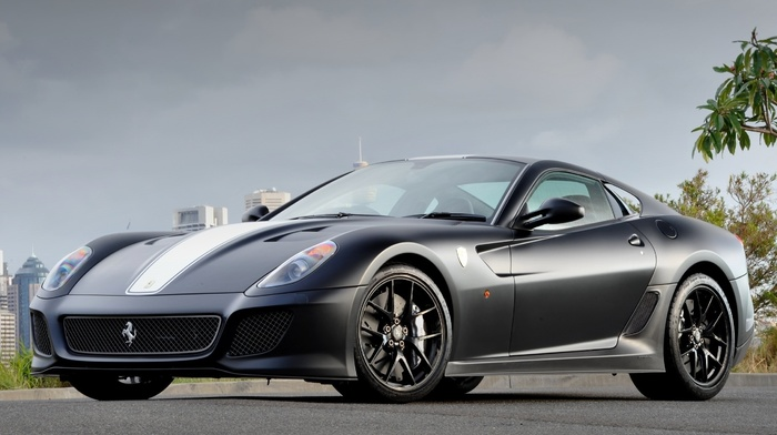 background, city, parking, Ferrari, tuning, ferrari, sportcar, cars, supercar, road