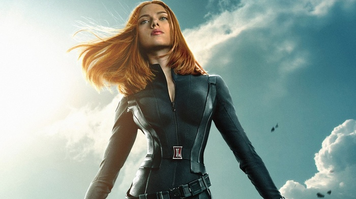 Scarlett Johansson, Black Widow, actress, girl outdoors, superheroines, girl, captain america the winter soldier