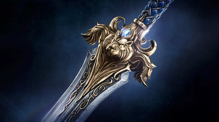 World of Warcraft, movies, video games, Alliance, lion, Warcraft, sword