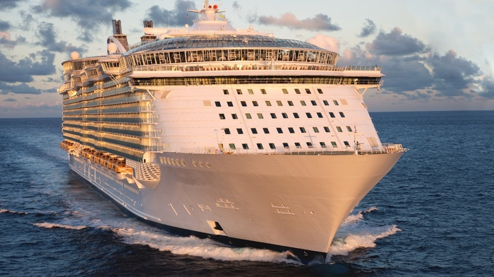 sea, summer, rest, power, cruise ship, morning, ship, beautiful, stunner