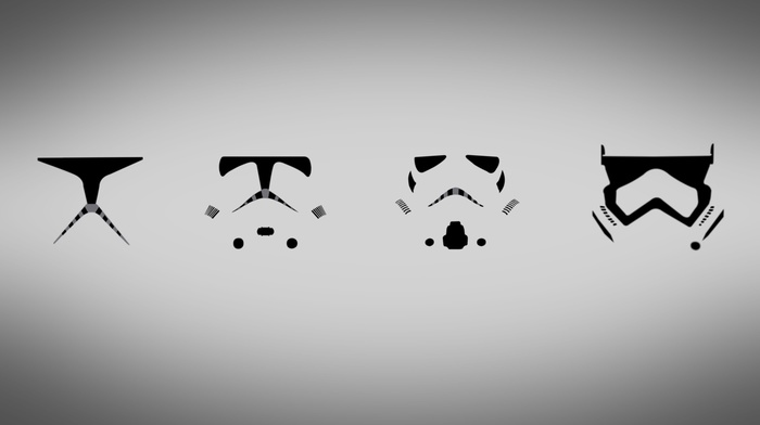 минимализм, просто, Звездные войны, штурмовик