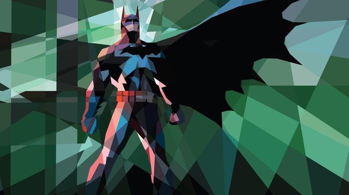 Batwoman, low poly, artwork, comics, Batman, DC Comics