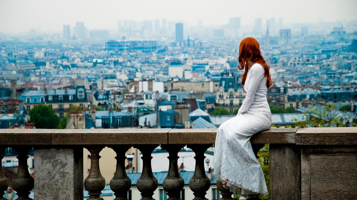 nature, macro, view, Paris, girl, people, photo, city, red hair, posing, theme, statuette