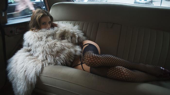 rosie huntington-whiteley, модель, люди, Рози хантингтон-уайтл, белье, машина, актриса